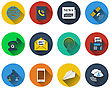 Set Of Communication Icons In Flat Design. EPS 10 Vector Illustration With Transparency