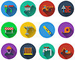 Set Of Construction Icons In Flat Design. EPS 10 Vector Illustration With Transparency