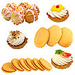 Set Of Cookies Of The Various Form stock photography