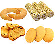 Set Of Cookies Of The Various Form stock image