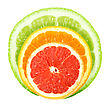 Set Of Cross A Citrus Fruits Close-up Studio Photography stock photography