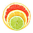 Set Of Cross A Citrus Fruits Close-up Studio Photography stock image