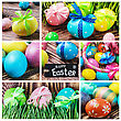 Set Of Decorating Eggs For A Happy Easter