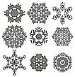 Set Of Different Ornamental Rosettes Isolated On White Background stock vector