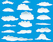 Set Of Different Shape Of Clouds For Design Usage stock vector