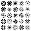 Set Of Different Tribal Rosette Tattoo Design Isolated On White Background. Polynesian Design stock illustration