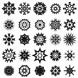 Set Of Different Tribal Rosette Tattoo Design Isolated On White Background. Polynesian Design stock vector