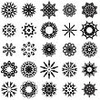 Set Of Different Tribal Rosettes Tattoo Design Isolated On White Background. Polynesian Design stock vector
