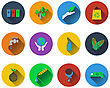 Set Of Ecological Icons In Flat Design. EPS 10 Vector Illustration With Transparency