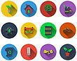 Set Of Ecological Icons In Flat Design. EPS 10 Vector Illustration With Transparency stock vector