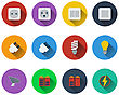 Set Of Energy Icons In Flat Design. EPS 10 Vector Illustration With Transparency