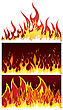 Set Of Fire Vector Backgrounds With Tongue Of Flame