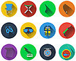 Set Of Fishing Icons In Flat Design stock vector