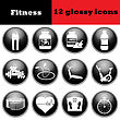 Set Of Fitness Glossy Icons. EPS 10 Vector Illustration