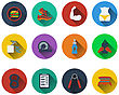 Set Of Fitness Icons In Flat Design. EPS 10 Vector Illustration With Transparency