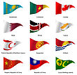 Set Flags Of World Sovereign States Triangular Shaped. Vector Illustration stock illustration