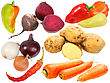 Set Of Fresh Fruits And Vegetables Close-up Studio Photography stock photo