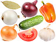 Set Of Fresh Spicees And Vegetables Close-up Studio Photography stock photo