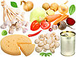 Set Of Fresh Vegetables And Other Food Close-up Studio Photography stock image