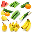 Set Of Fruits And Vegetables stock image