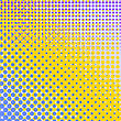 Set Of Halftone Dots. Comic Book Texture. Colorful Background