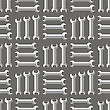 Set Of Metallic Wrench Grey Seamless Pattern. Industrial Tool Background