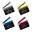 Set Of Movie Clapper Boards