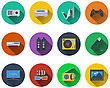 Set Of Multimedia Icons In Flat Design. EPS 10 Vector Illustration With Transparency