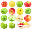 Set Of Apples Close-up Studio Photography stock photo
