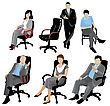 Business People Set Of Business People Silhouettes stock vector