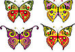 Set Of Colour Butterflys. Vecto stock illustration