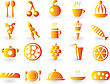 Set Of Food Glossy Icons