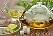 Set Of Green Tea stock image