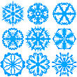 Set Of Snowflakes, Vector Illustration