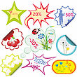 Set Of Stikers For Sale. Vector