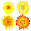 Set Of Suns. Elements For Design.