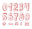 Set Of Red Numbers