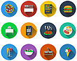 Set Of Restaurant Icons In Flat Design. EPS 10 Vector Illustration With Transparency