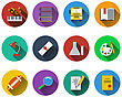 Set Of School Icons In Flat Design. EPS 10 Vector Illustration With Transparency
