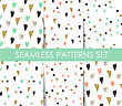 Set Seamless Pattern With Hearts. Valentines Day Background. Can Be Used For Textule, Wallpapers, Web, Greeting Cards And Scrapbooking Design