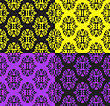 Set Of Seamless Patterns In Different Colors stock vector