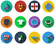 Set Of Shopping Icons In Flat Design. EPS 10 Vector Illustration With Transparency