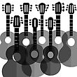 Set Of Silhouettes Guitars Isolated On White Background