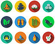 Set Of Spa Icons In Flat Design. EPS 10 Vector Illustration With Transparency stock vector