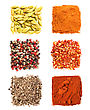 Set Of Spices Heaps stock image