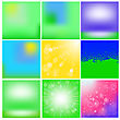 Set Of Summer Blurred Backgrounds For Your Design
