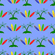 Set Of Surfboards Isolated On Blue Background. Seamless Sport Pattern