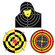 Exercise Set Targets For Practical Pistol Shooting, Exercise. stock illustration