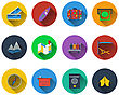 Set Of Travel Icons In Flat Design. EPS 10 Vector Illustration With Transparency