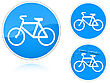 Set Of Variants A Bicycle Path - Road Sign Group Of As Fish-eye Simple And Grunge Icons For Your Design